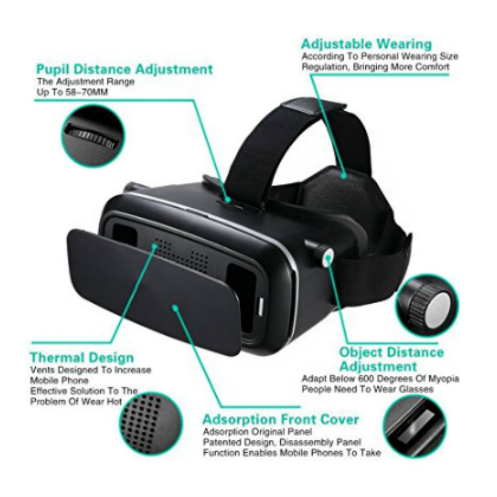 0bc43201152a Shinecon VR BOX (3D Virtual Reality Headset)