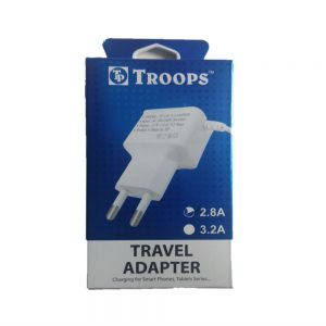 Troops Charger 2.8A (Micro USB) 6 Months Warranty