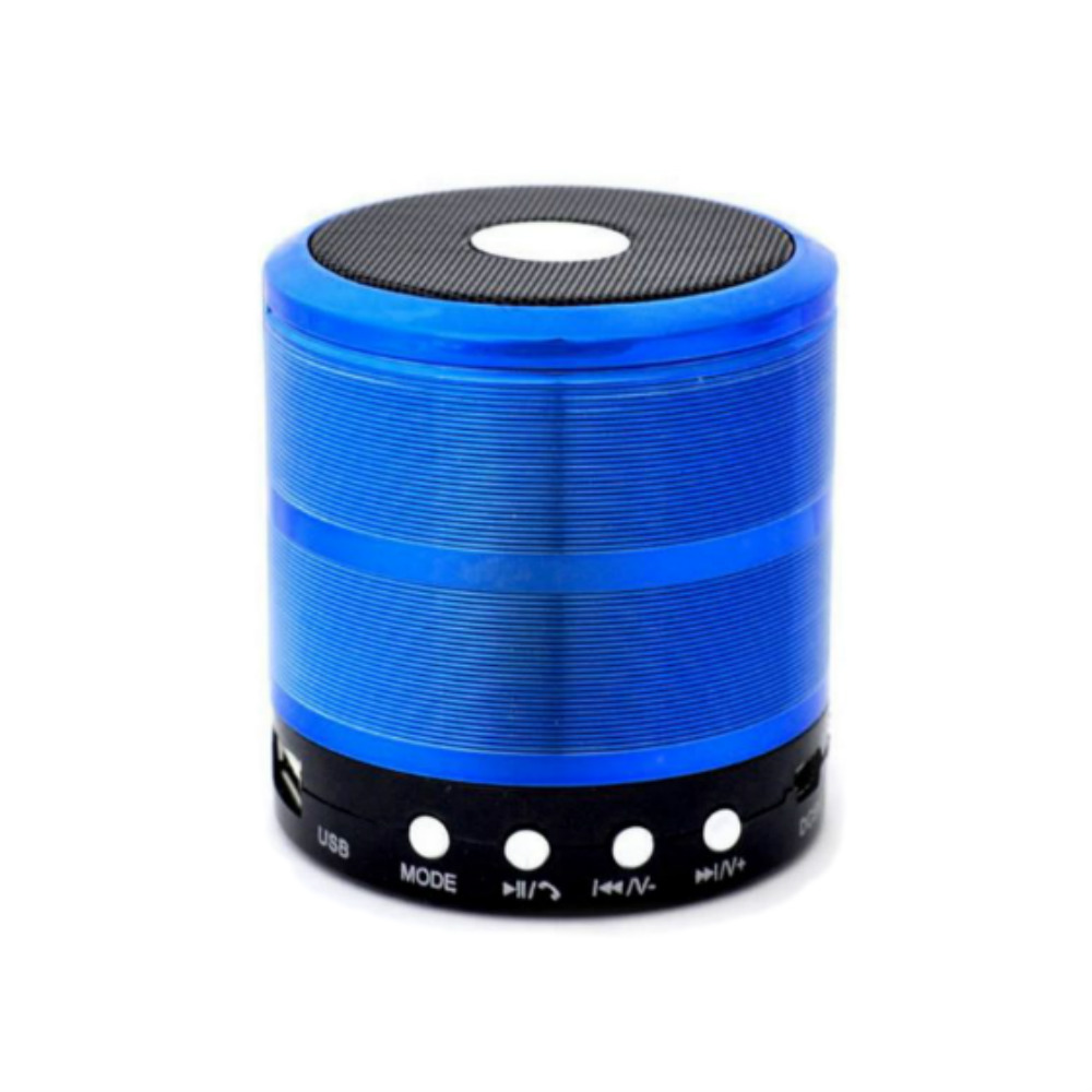 Ws 887 Mini Speaker Metal 5 Colour Fmauxbluetoothsd Cardusb