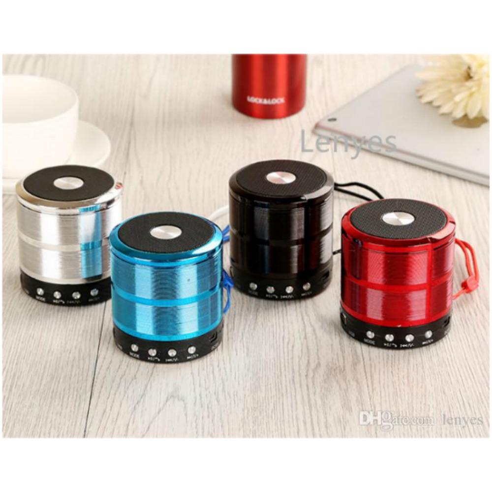 WS-887 Mini Speaker Metal (5 Colour) FM/AUX/BLUETOOTH/SD CARD/USB