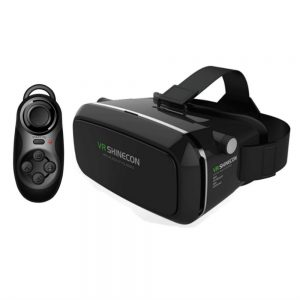 Shinecon VR Box with VR Joystick (Bluetooth Remote)